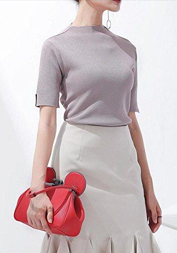 Poignée Femmes Sac Chaîne Main Sac Conception Package Sac Mode Épaule Oreille Messenger Red À Mignon Top 0xPrnwq0TC
