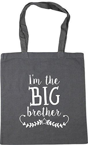 HippoWarehouse I'm the big brother Tote Shopping Gym Beach Bag 42cm x38cm,...