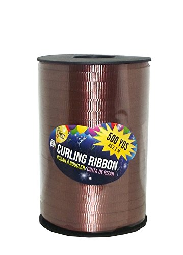 - SKD Party by Forum Curling Gift Ribbon, 500 Yard Spool (Brown)