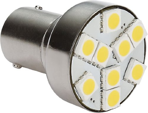 Gold Stars 11568303 Natural White LED Replacement Bulb (1156 /1139 /1141 /1003 / Base 80 LUMS 12V or 24V) by Gold Stars