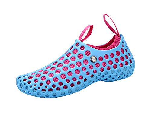 T&Mates Unisex Lightweight Breathable Quick Drying Mesh Hole Sandals Water Shoes (6 B(M)US,Sky (Party City In Coral Springs)