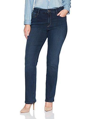 NYDJ Womens Plus Size Marilyn Straight Leg Jeans in Future Fit Denim