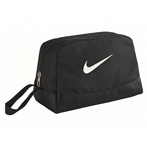 (Nike Club Team Swoosh Toiletry Bag Bag, 27 cm, Black (White))
