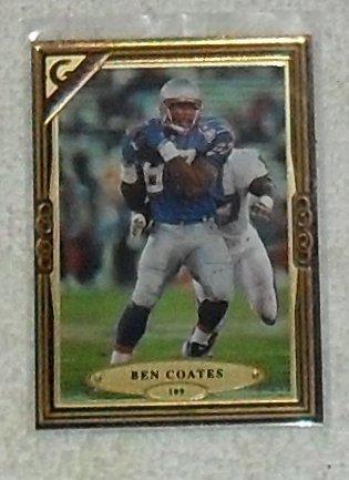 (Ben Coates 1997 Topps Gallery NFL Football Card # 109)