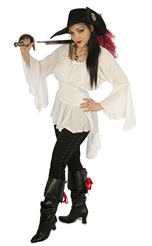 Adult Lady Blouse Medieval Costumes - Dress Like A Pirate Romantic Renaissance LARP