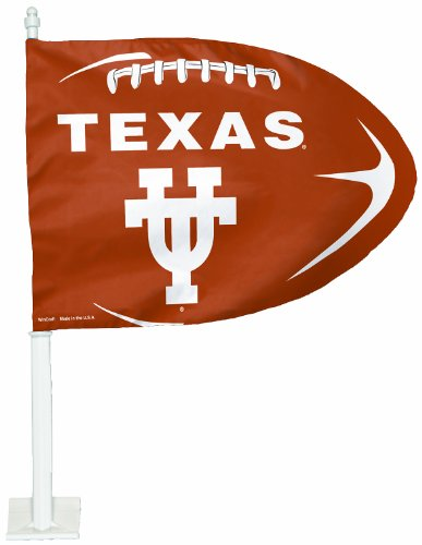 Football Shaped Car Flag - NCAA Texas Longhorns Football Shaped Car Flag