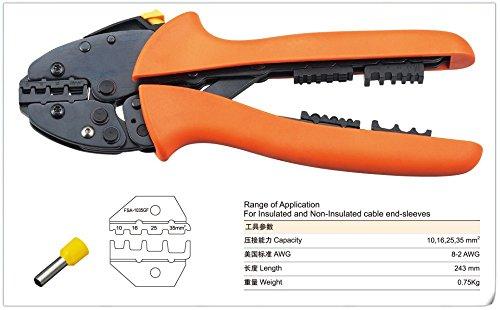 Saipwell FSA-1035GF Super strength-saving mini-type crimping plier FSB SERIES CRIMPING PLIER 10-35mm2 multi tool tools hands