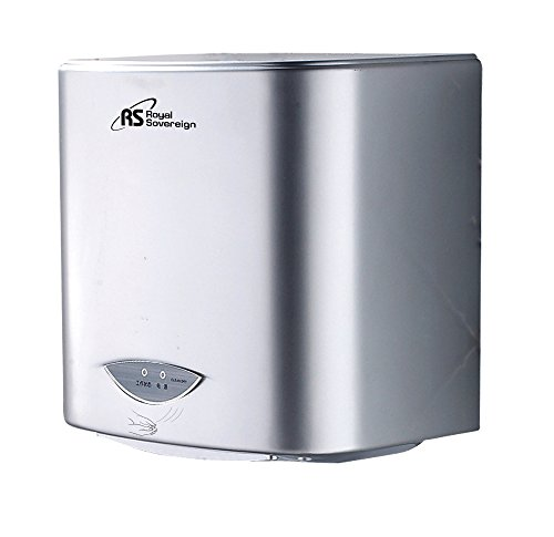 Touchless Hand Dryer (Royal Sovereign RTHD-421S Touchless Automatic Hand Dryer, 20 seconds Operating)