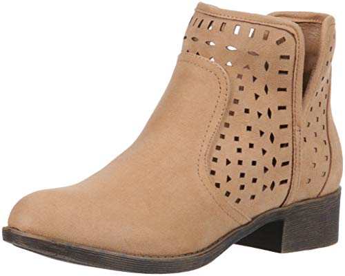 Rampage Women's Chuck Casual Pull On Side Cut Out Perforated