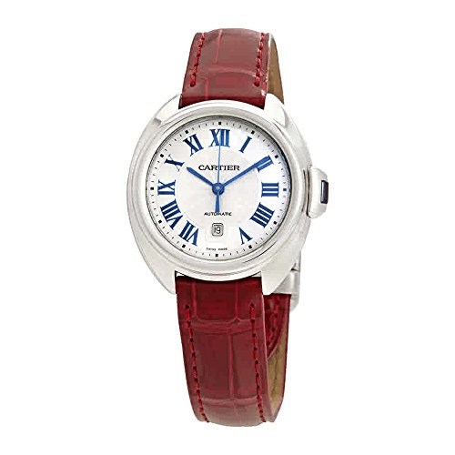 Cartier Cle de Cartier Automatic Silvered Dial Ladies Watch WSCL0016