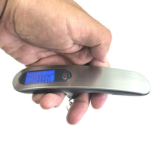 SAQIMA Mini Scale Portable LCD Digital Travel Scales Suitcase Luggage Weight 50KG 10G Multi-Function Hanging Scale
