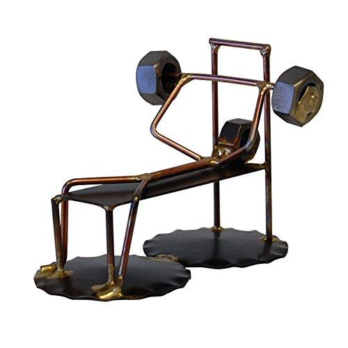 Weight Lifter Wirecraft Figurine Gift for Bodybuilder (Weightlifting Figurines)