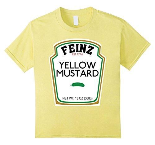 For Halloween Friends Costumes Four (Kids Mustard Matching Best Friend Halloween Costume T-Shirt 4)