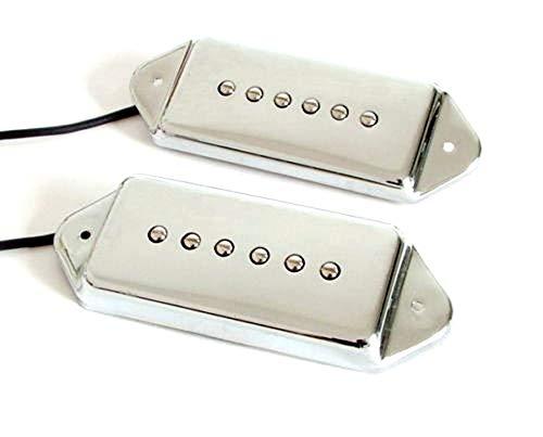 Set of 2 Pcs Chrome P90 Dog Ear Single Coil Pickups, Neck & ()