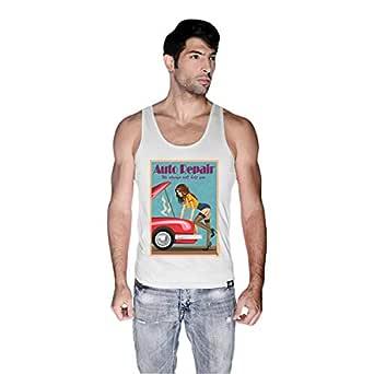 Creo Auto Repair Beach Tank Top For Men - M, White