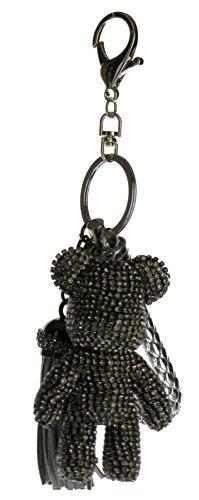 Rhinestone Bling Key Chain Fob Phone Purse Charm Teddy Bear (Bling Teddy)