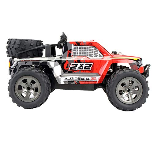 IAMUP Toddler/Little Kid 1:18 3WD High Speed RC Racing Car Remote Control CaseTruck Off-Road Buggy Best Gifts Toys Red ()