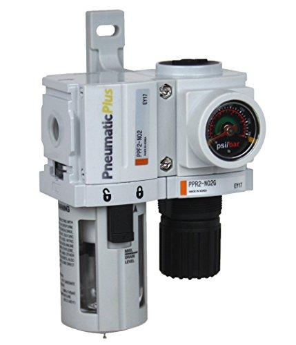 PneumaticPlus PPC2B-N02G Mini Air Filter Regulator Modular Combo 1/4