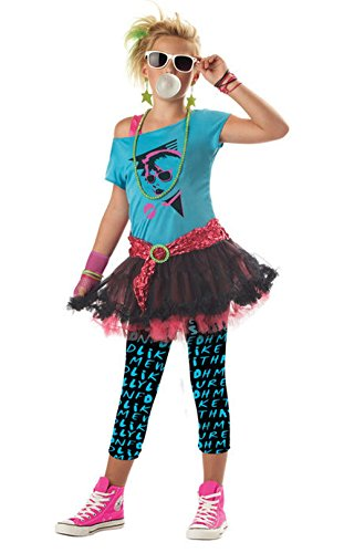 Mememall Fashion 80's Katy Perry Cindy Lauper Tween Costume ()