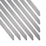 HM&FC 100pcs 11.8 Inches/4.6*300mm Stainless Steel Exhaust Wrap Coated Locking Cable Zip Ties