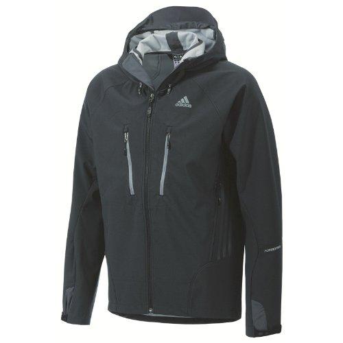 adidas Sport Performance Terrex Swift Hooded Jacket, Black/ Tech Grey, Medium