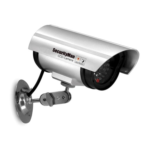 SecurityMan SM-3601S Dummy Indoor Camera with LED (Silver)