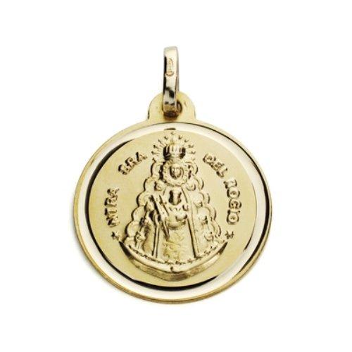 Virgen del Rocio ronde médaille en or 18 carats