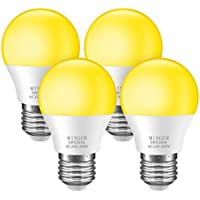 4 Pack Minger Bug Light Bulb Yellow LED Bulbs for Patio Hallway Garage