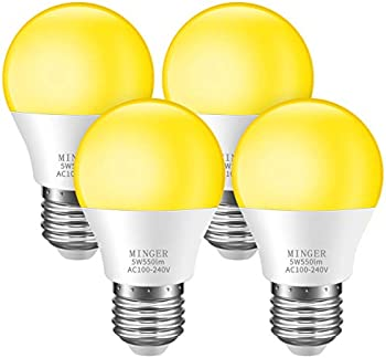 4 Pack Minger Bug Light Bulb Yellow LED Bulbs