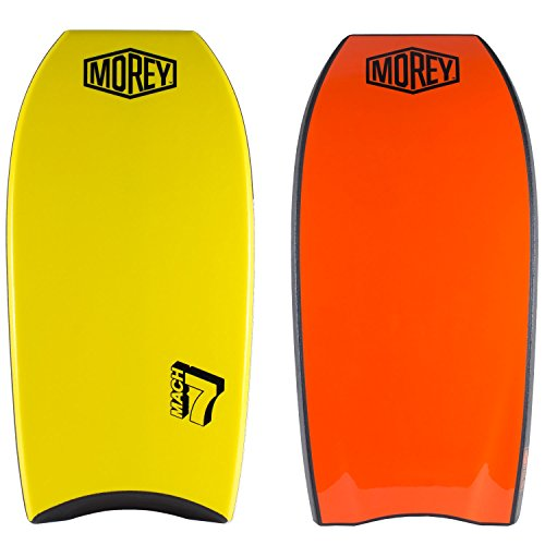 "Morey Mach 7 Body Board with Crescent Tail 41"" Yellow and Red 1 Pc"