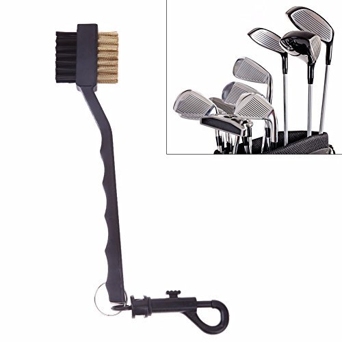 Portable Double Sided Sided Brass Wires Nylon Golf Brush Clip Groove Ball Cleaner Cleaning Kit Tool Accessories 2017 New - Sunglasses Oregon Duck Oakley