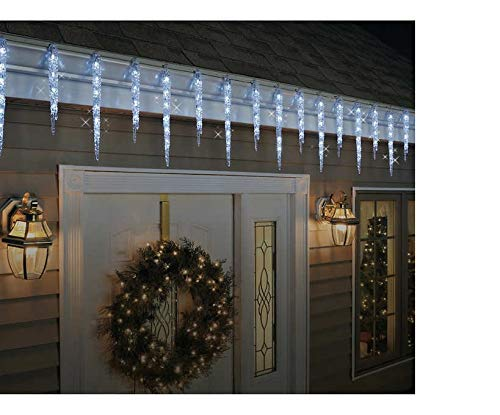 100 Led Icicle Style Lights Ge in US - 5