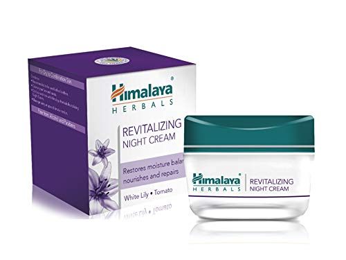 Himalaya Herbals Revitalizing Night Cream | Luxuriöse, tiefe, penetrierende und hypoallergene Creme | Gesichtscreme während der Nacht für trockene und gemischte Haut