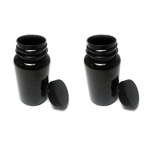2 Empty Plastic Pill Bottles Medicine Container Vitamin Case Capsule Drug Holder (Plastic Vitamins)