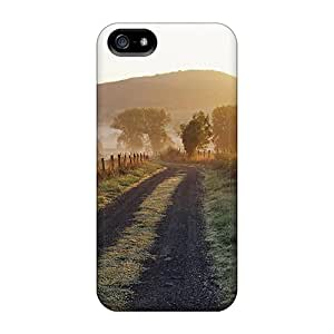 For MWWqd4958DejfJ France Road In The Fields Protective Case Cover Skin/iphone 5/5s Case Cover