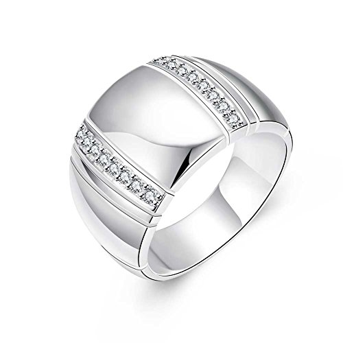 Women Charms Jewelry Zircon Plate With Silver Romantic Geometry Statement (Orc Costume Lotr)