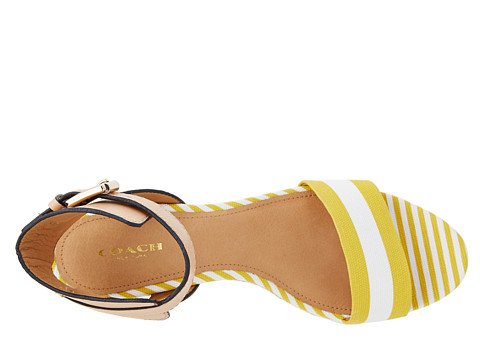 Coach Womens Helen Sunglow-white / Natural Sandal