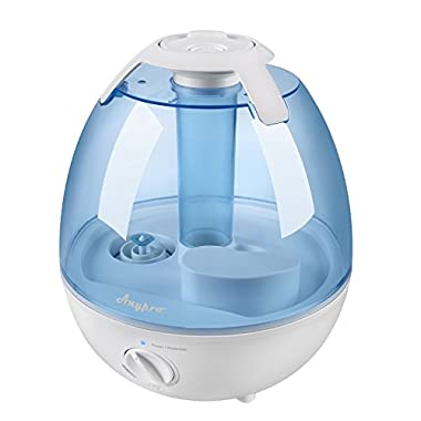 Anypro 3.5L Cool Mist Humidifier, Ultrasonic Anti-mold Steam Vaporizer with Ultra Quiet Operation, Automatic Shut-off, and Variable Night Lights