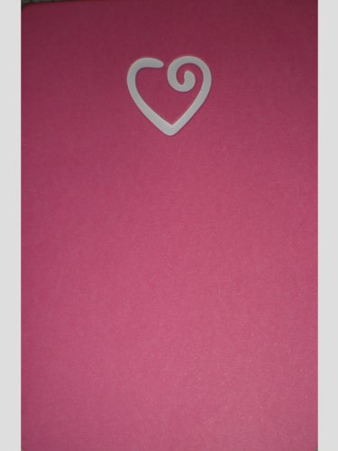 Pink Swirl Heart Valentine's Note Cards w/ Envelopes