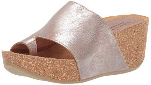 Donald J Pliner Women's GINIE2-Y9 Wedge Sandal, Silver, 9.5 B US