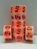 1000 Labels 1.5'' Round Bright Red 2/$3 Discount Pricing Price Point Retail Stickers 1 Roll