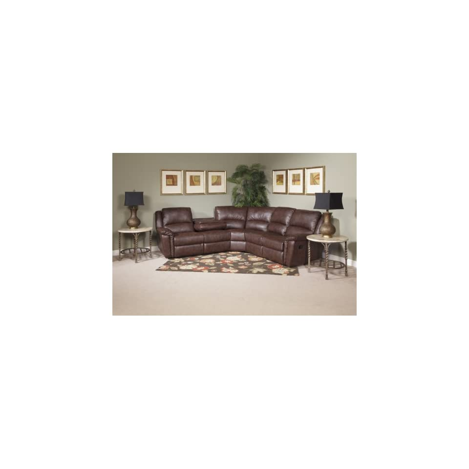LEATHER SECTIONAL SOFA RECLINING NOVO HOME BROWN FIRST CLASS 8140 LIVING ROOM