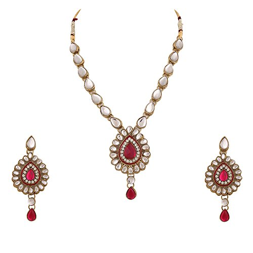 Rani pink kundan like work Indian Artisan