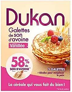 Tortitas de salvado de avena sabor vainilla 3 unidades envase ...