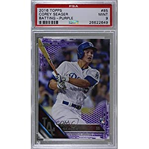"Corey Seager Graded PSA 9 MINT (Baseball Card) 2016 Topps - [Base] - Toys""""R"""" Us Purple #85"
