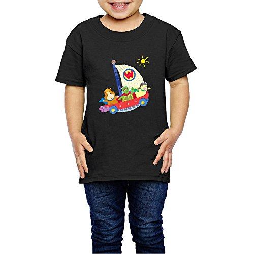 Linny The Guinea Pig (Kids Toddler Wonder Pets Little Boys Girls T Shirts Black Size 3)