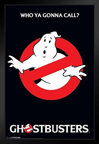 Pyramid America Ghostbusters Who Ya Gonna Call Movie Black Wood Framed Poster 14×20 inch