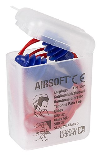 (Honeywell 1030612 Airsoft Reusable Earplugs Red Poly)