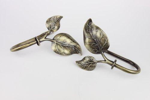 Rod Desyne Ivy Decorative Holdback Pair in Antique Brass