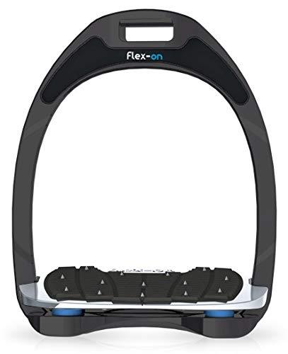 【 限定】フレクソン(Flex-On) 鐙 アルミニウムレンジ Inclined ultra-grip フレームカラー:Sideral エラストマー:ライト ブルー 82088   B07KMRQKLS
